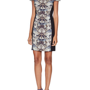 Grayson Printed Cap Sleeve Mini Dress