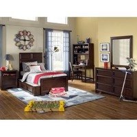 Legacy Dawson's Ridge Panel Bed In Heirloom Cherry