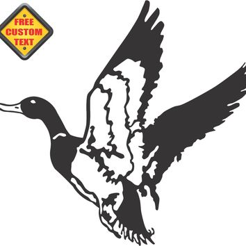 Hunting Duck Sticker Decal 20 Colors To Choose From.