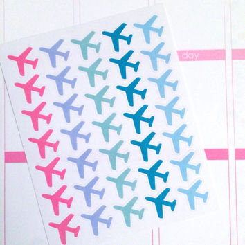 Airplane Planner Stickers- 35 count