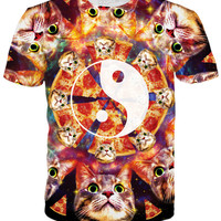 Yin Yang Pizza Cat T-Shirt