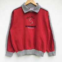 On Sale Le Coq Sportif Sweatshirt / Vintage  / Vintage Sweater / Embroidered /Big Logo / Spellout/ Pull Over / Sportwear