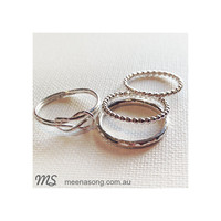 STACK RING DOUBLE KNOT SET