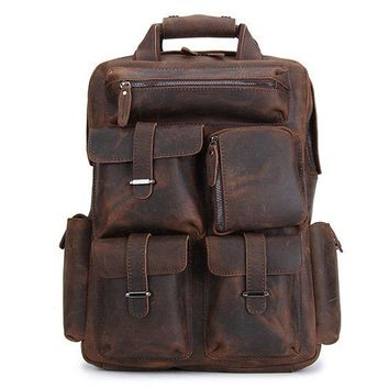 BLUESEBE HANDMADE VINTAGE LEATHER BACKPACK B826