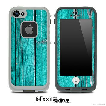Trendy Green Wood V1 Skin for the iPhone 5 or 4/4s LifeProof Case