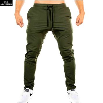 YUANHUIJIA2017 Men Gyms Pants Casual Elastic cotton Mens Fitness Workout Pants skinny,Sweatpants Trousers Jogger Pants