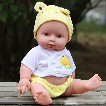 Baby Doll Soft Vinyl Silicone Lifelike Alive Baby Early Educational Toys for Girls Birthday Christmas Gift