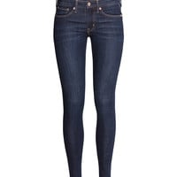 H&M - Skinny Regular Jeans - Dark denim blue - Ladies