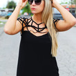 Charlotte's Web Blouse {Black}