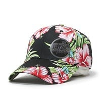 Premium Floral Hawaiian Cotton Twill Adjustable Snapback Hats Baseball Caps (Varied Colors)