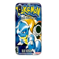 POKEMON BLUE CUSTOM IPHONE CASE