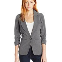 Women's One Button Blazer in Gray