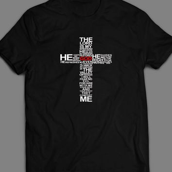 "THE LORD'S PRAYER ""THE LORD IS MY SHEPARD"" CHRISTIAN T-SHIRT"