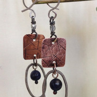 copper earing with bead
