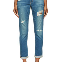 Frame Denim Blue Cropped Le Garon Jeans