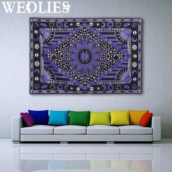 ICIKJG2 210X145cm Purple Sun Wall Hanging Tapestry Bohemian Throw Blanket Bedspread Dorm Cover Mat Home Room Wall Decoration
