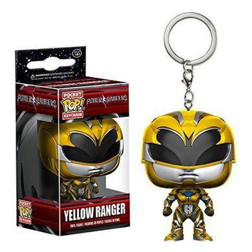 Yellow Ranger Funko Pop Pocket Power Rangers Keychain