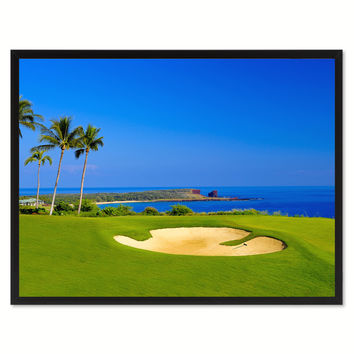 Coastal Golf Course Photo Canvas Print Pictures Frames Home Décor Wall Art Gifts