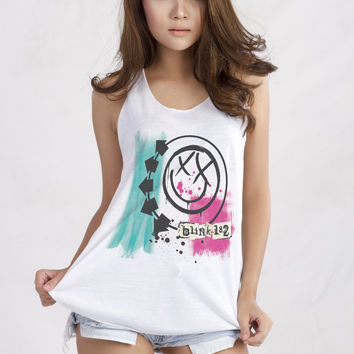 Blink 182 Band Women Graphic Tank Top