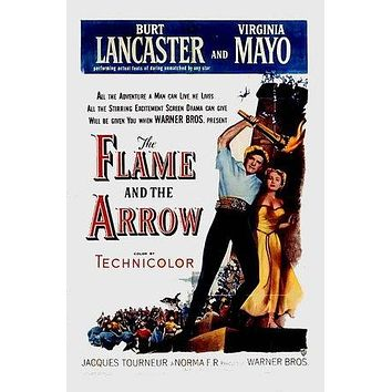 The Flame and the Arrow Poster//The Flame and the Arrow Movie Poster//Movie Poster//Poster Reprint