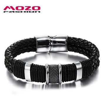 Mozo Fashion Trendy Stainless Steel Bracelets For Men Mph891
