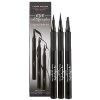 Laura Geller Beauty Eye Calligraphy Liquid Eyeliner Trio ($60 Value), Black