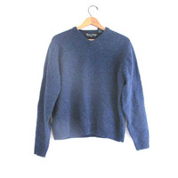 20% OFF STOREWIDE... lambswool vneck Sweater. blue sweater. size L
