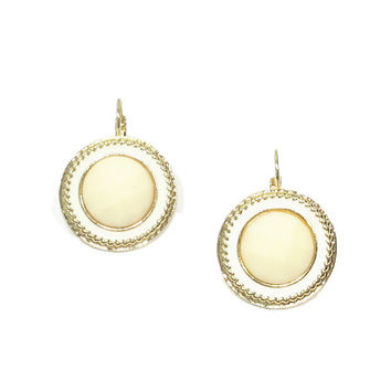 Sunny Disposition Earrings (Cream)