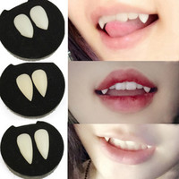 1 Set Halloween Film And Television Props The Vampire Teeth Cosplay Props Gothic Vampire Zombie Tooth Spot