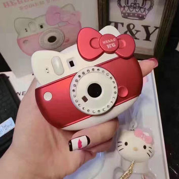 New Sweet Hello Kitty Camera Cute 6000mah Power Bank portable Charger Suppler Power For iPhone 7 Android Xiaomi Phones Universal
