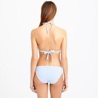 Seersucker hipster bikini bottom - Prints - Women - J.Crew