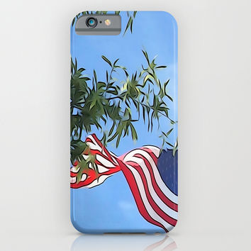 American Flag  iPhone & iPod Case by KCavender Designs