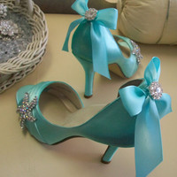Blue Wedding Shoes Beach Wedding Tiffany Blue Wedding by Parisxox