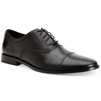 DCCK8BW CALVIN KLEIN MENS NINO CAP-TOE OXFORDS