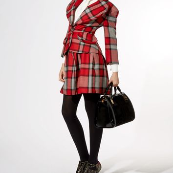 Red Tartan 3D Love Jacket