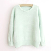 Green Casual Sweatshirt