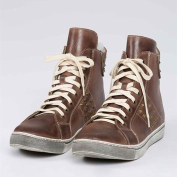Hightop Leather Sneakers by POL Clothing