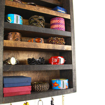 Window Wall Hanging Jewelry Storage Display and Organizer... handmade by TangleandFold
