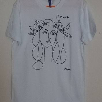 Custom Picasso Woman Sketch T Shirt