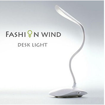 4 Colors Bedside Lights Flexible Table Lamp Touch Sensor LED Reading Lamp Rechargeable White