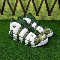 """Nike Air More Uptempo """"Camo"""" White Sneakers - Best Deal Online"""