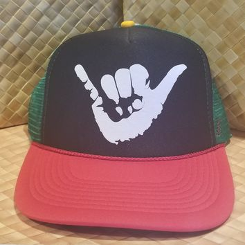 "50th State of Mind ""Shaka"" SnapBack Trucker Hat"
