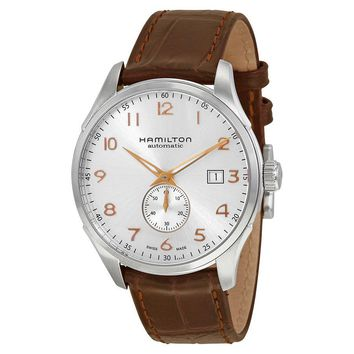 Hamilton Jazzmaster Maestro Automatic Silver Grey Dial Leather Mens Watch
