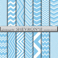 Blue Chevron Background Download - Printable Blue Chevron with Blue Zigzag, Blue patterns, Instant Download