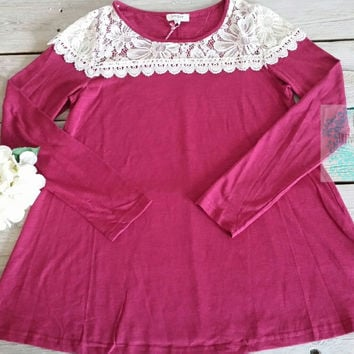HEATHER JERSEY KNIT TOP