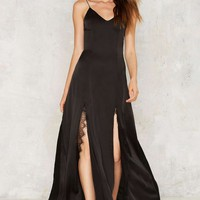 Dead of Night Satin Maxi Dress
