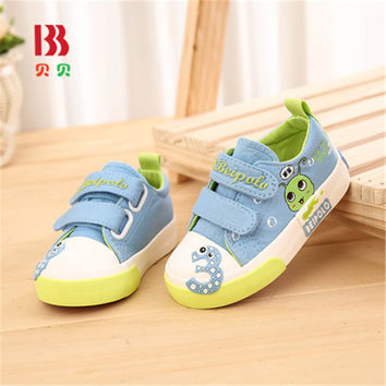 2017 New Kids Casual Shoes Baby Boys Girls Canvas Shoes Children's Sneakers Denim Running Sport Toddler Shoes 6110