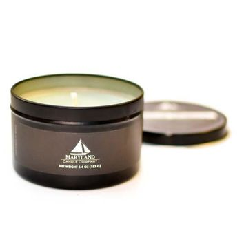 Caribbean Teakwood / Black Edition Tin Candle