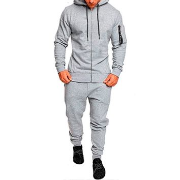 Men's Hooded Sweatshirt and Pants Sweatsuit
