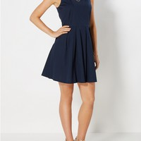 Navy Pleated Sundress